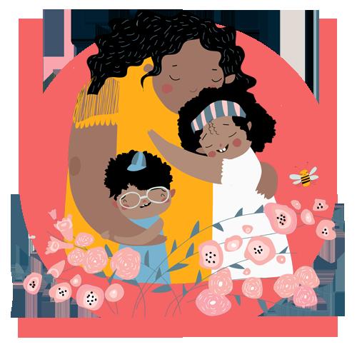 Divorce & Children - Mom Hugging child
